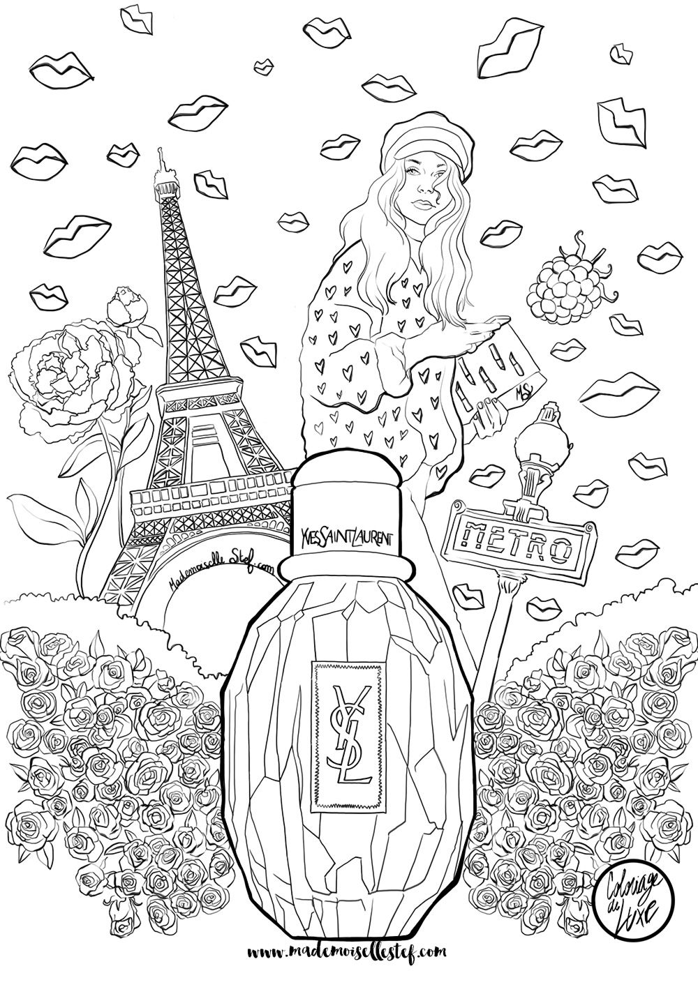 parfum Yves Laurent mode Saint fashion Coloriage Parisienne dwfqEdg