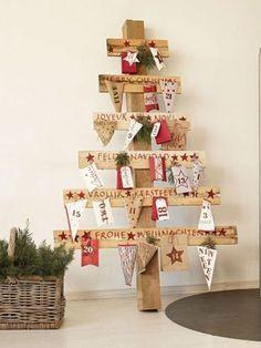 Rustikaler Adventskalender: Holz Adventskalender Basteln
