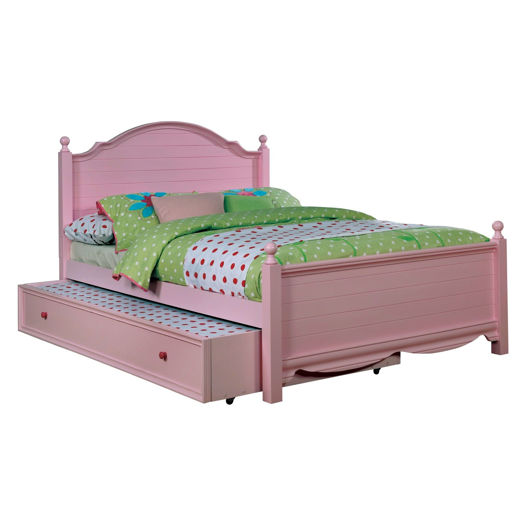 Iohomes Ranallo Contemporary Trundle Pink Full Homes Inside