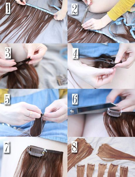 Diy Clip In Hair Extensions : extensions, Tutorial, Clip-in, Extensions, Tutorial,, Extensions,
