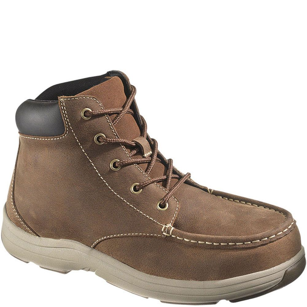 13001 hytest mens moc toe safety chukka brown boots