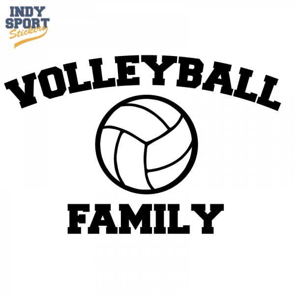Volleyball Family Text With Volleyball Car Stickers And Decals Volleyball Volleyball Silhouette Mom Texts