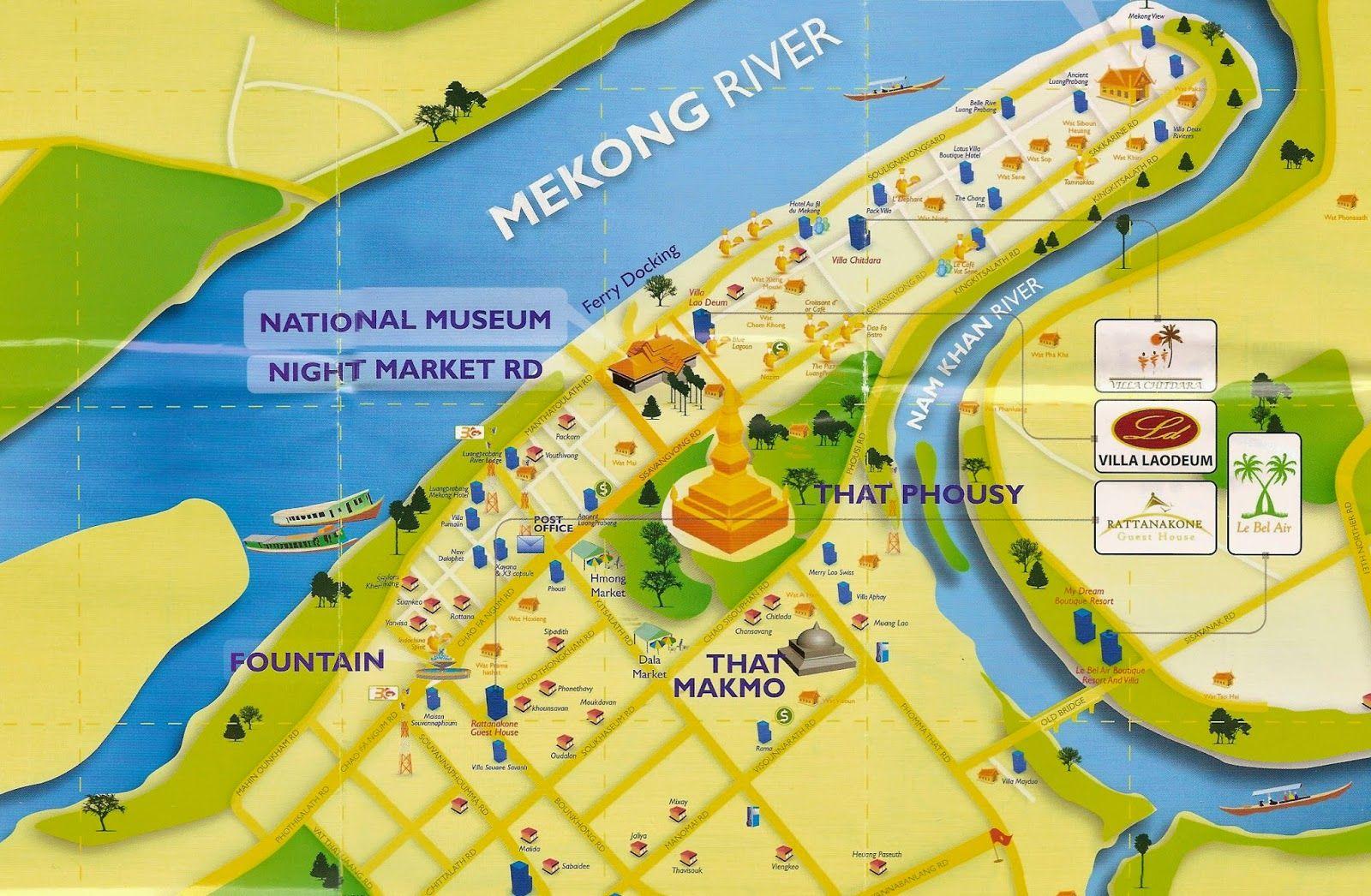 MapaturisticoLuangPrabangLaosjpg 16001046 for Thesis