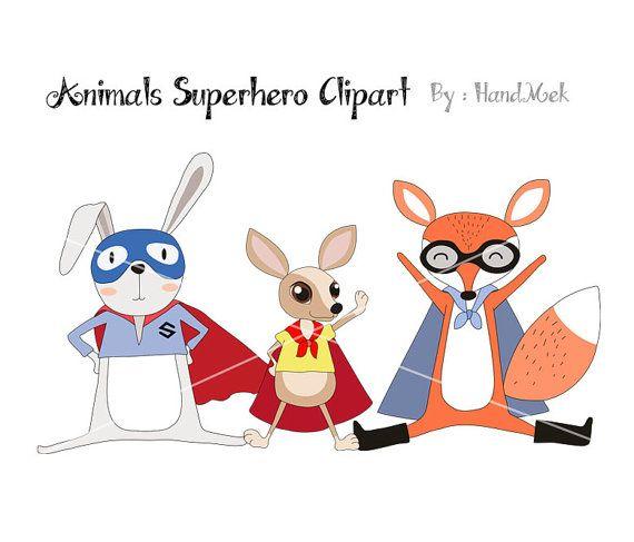 Animals Superhero Clipart Superhero Clipart Animals Clipart Png File 300 Dpi Superhero Clipart Animal Clipart Clip Art