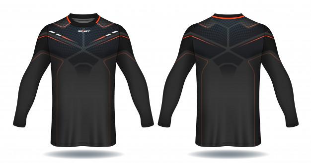 Download Long Sleeve Soccer Jersey Template Sport T Shirt Design In 2020 Tshirt Designs Sports Design Soccer Jersey