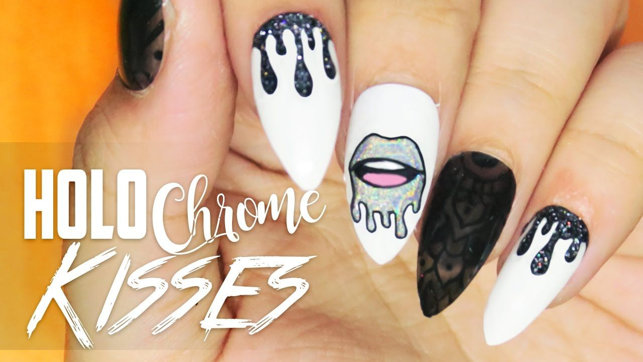 Holo Chrome Kisses nail art | Nail Art | Pinterest | Kiss nails ...