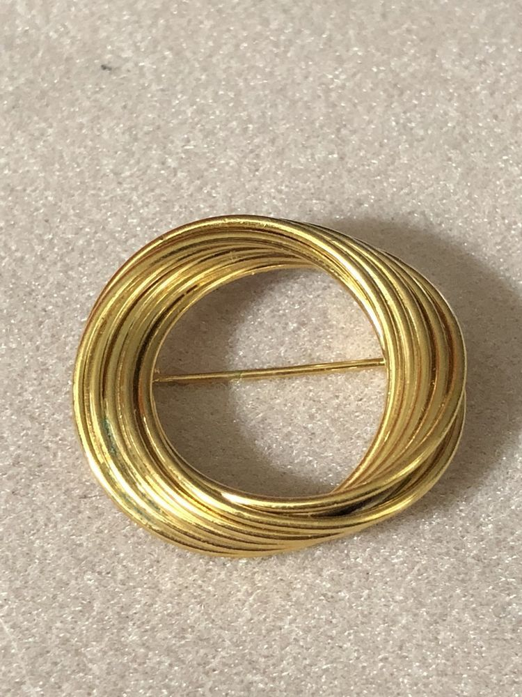 99 AUCTIONS Vintage Gold Napier Eternity Circle Brooch