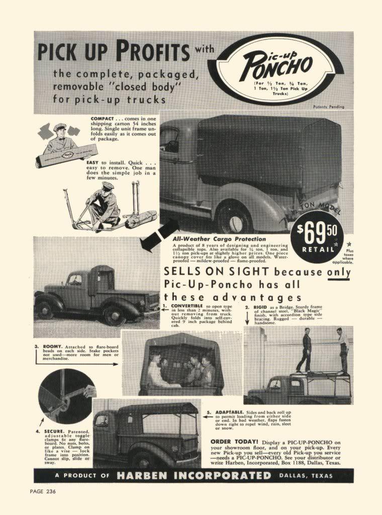 Vintage In-Bed Campers/Camper Shells - Ford Truck