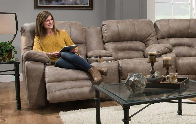 Franklin Furniture Legacy Reclining Console Loveseat In
