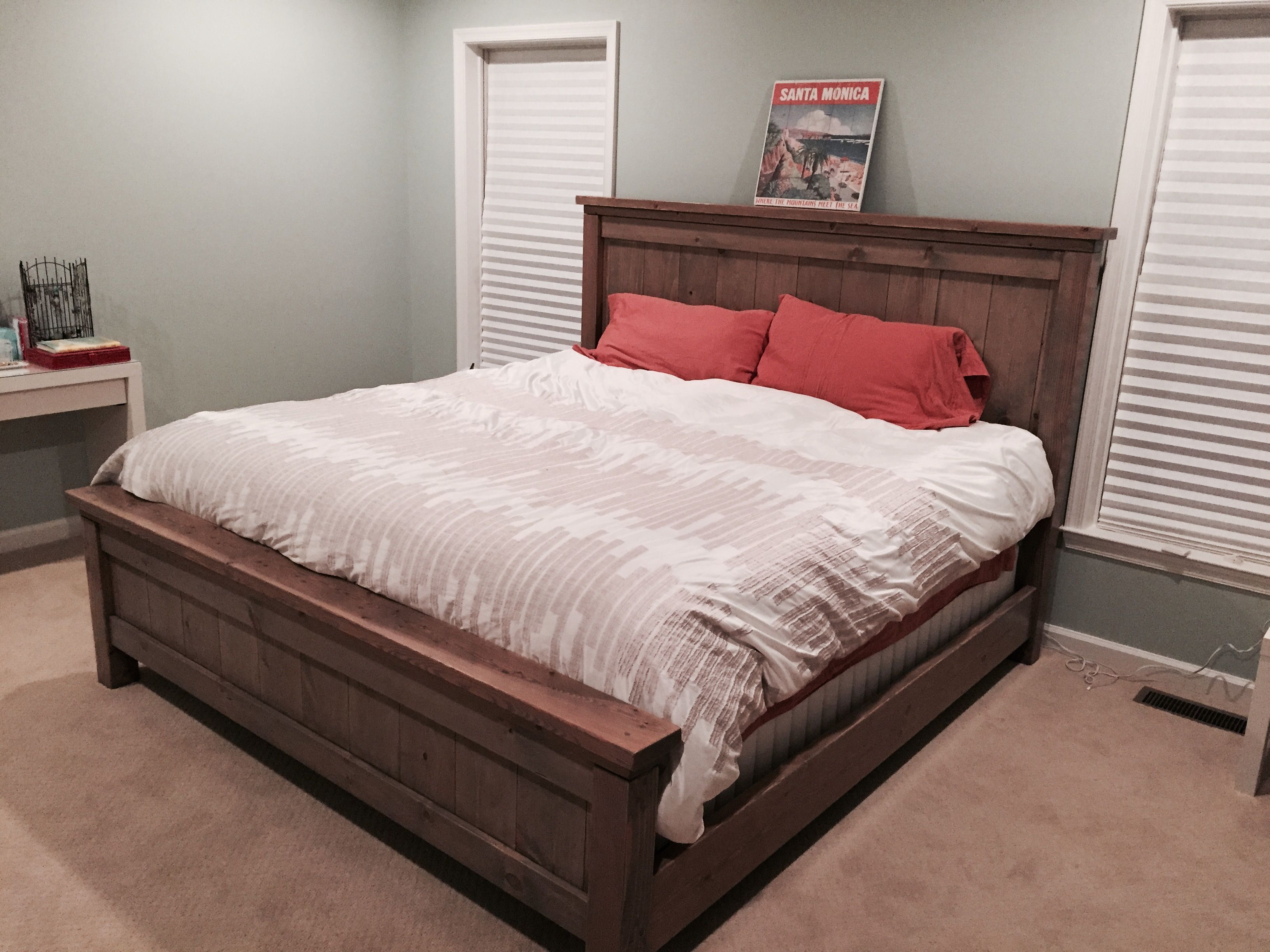 Custom King Bed Frame Do It Yourself Home Projects from
