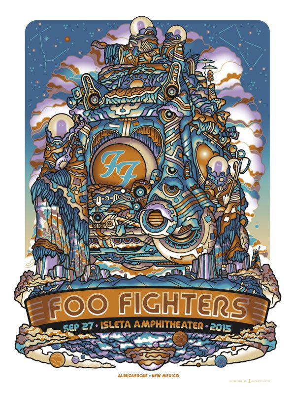 Inside The Rock Poster Frame Blog Guy Burwell Foo Fighters Posters St