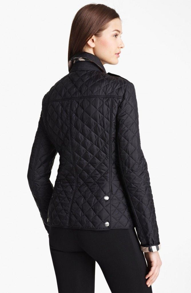 Burberry Brit Kencott Patch Pocket Quilted Coat For Women | Womens ...
