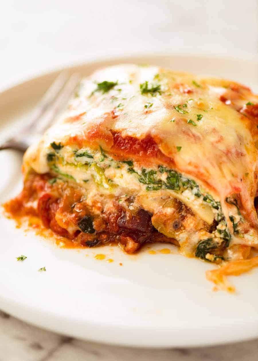 Vegetarian Lasagna Recipe Vegetarian Lasagna Vegetarian Lasagna Recipe Recipetin Eats