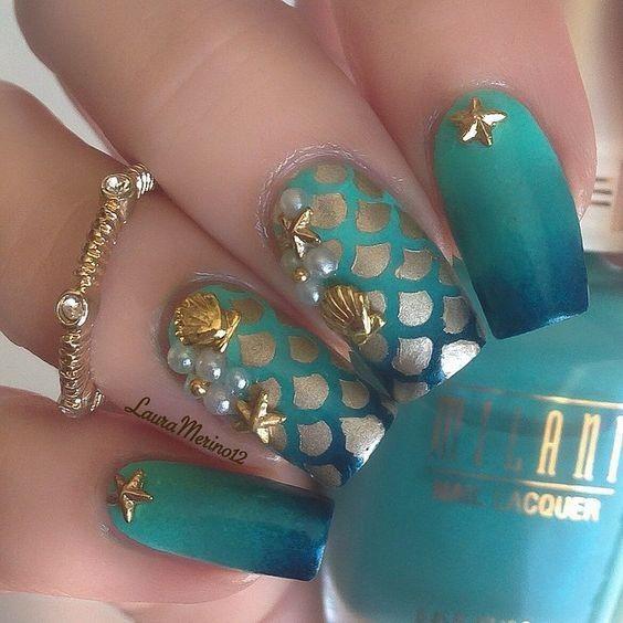 Uñas de sirena Princesa | Uñas | Pinterest | Uñas de sirenita ...