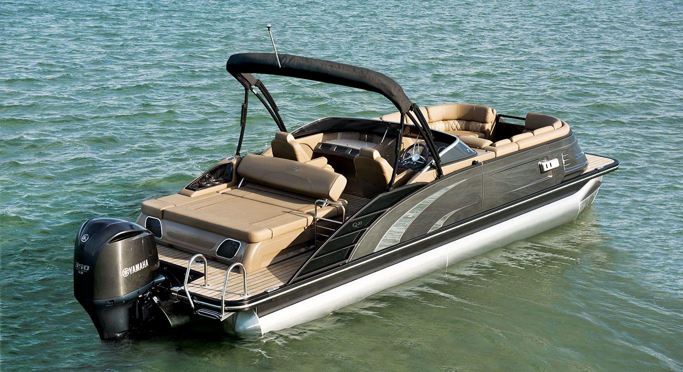 Qx25 Swingback Fiberglass Pontoon Boats By Bennington