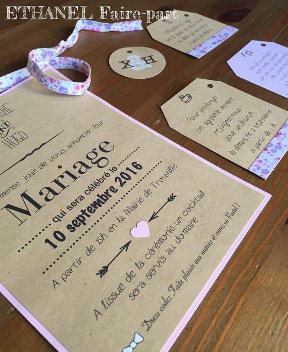 Fairepart mariage Liberty My Beautiful Day Pinterest Mariage