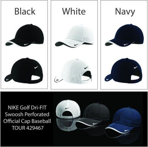 f0c6b21baec96 NIKE-Golf-Dri-FIT-Swoosh-Perforated-Official-Cap-hat-golf -Baseball-TOUR-429467