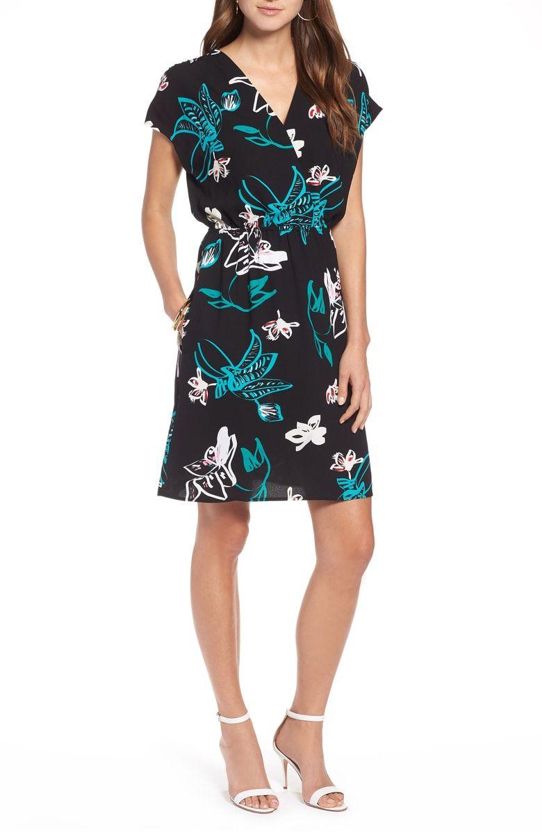 Halogen Faux Wrap Dress Regular Petite Wrap Dress Faux Wrap Dress Dresses [ 1197 x 780 Pixel ]