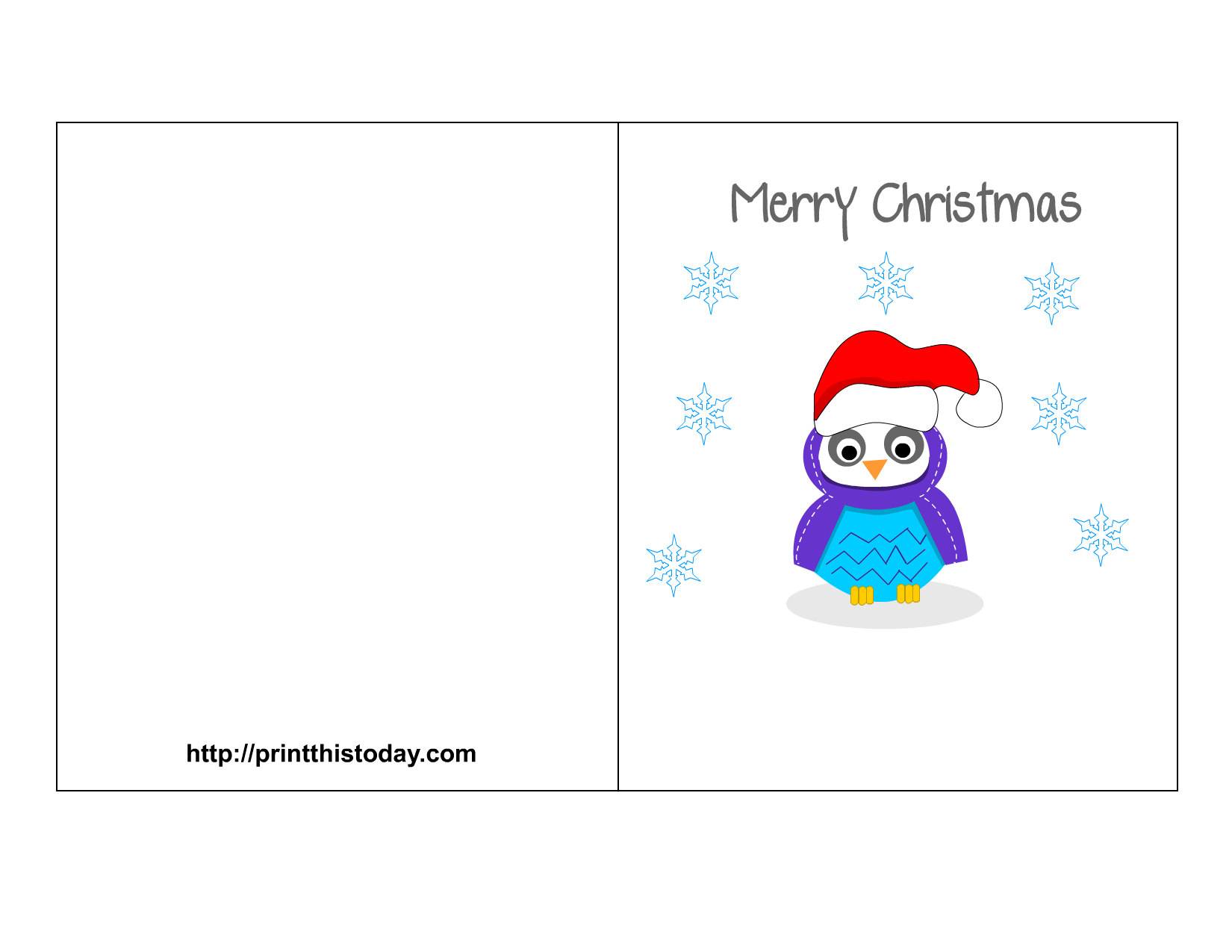 403 Permission Denied Free Printable Christmas Cards Printable Christmas Cards Owl Christmas Card
