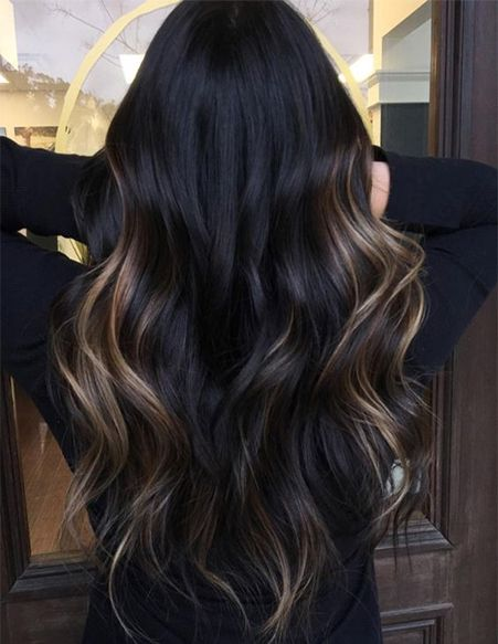 Dark Hair Color With Brown Shades For Spring Hairstyles Ideas Hair Color Unique Long Hair Color Black Hair Balayage