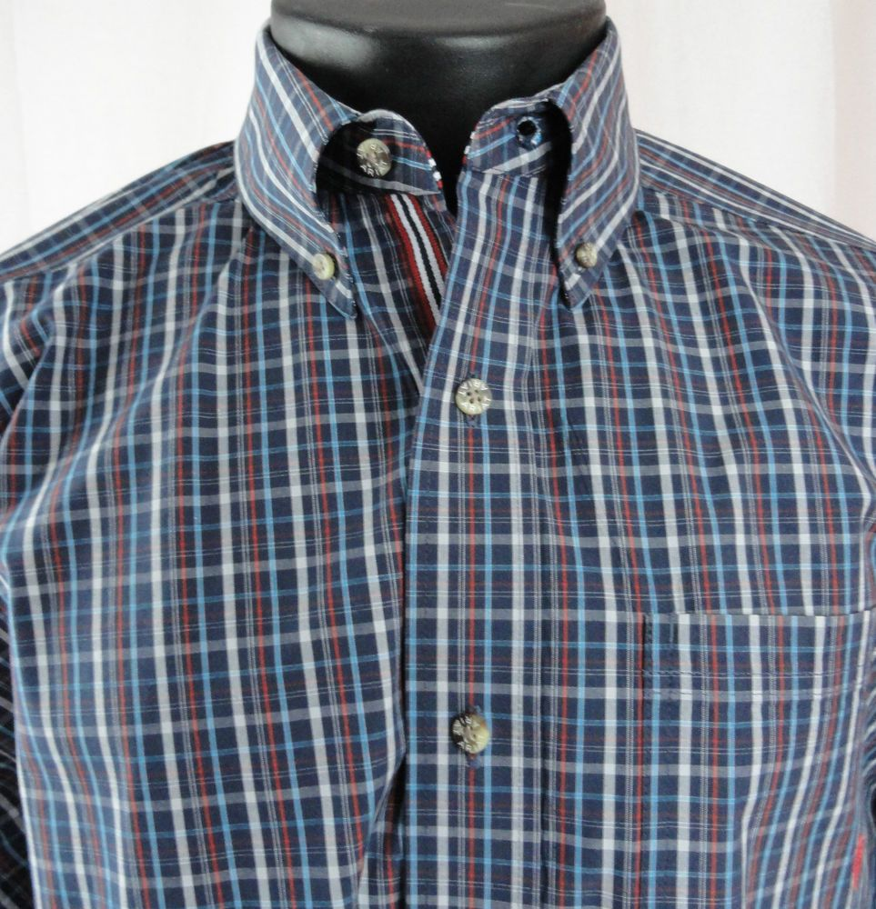 1d8e4110 Ariat Pro Series Mens L Shirt Blue Plaid Vented Armpits Button Up Cotton  Blend #Ariat #ButtonFront