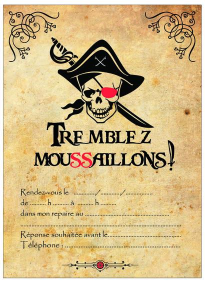 Bien connu invitation pirate parchemin-miniature | Invitations anniversaire  MZ78