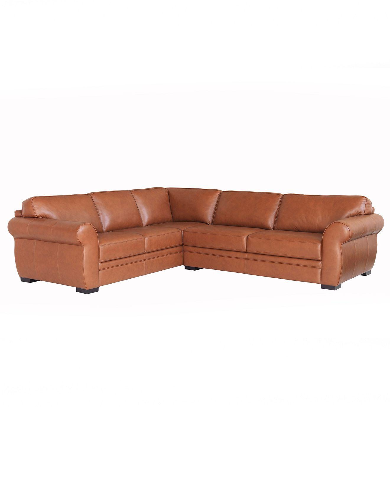Carmine Leather Sectional Sofa 2 Piece Sofa And Apartment Sofa
