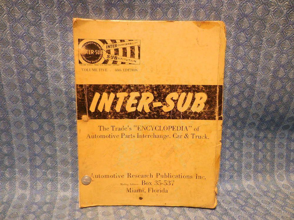 Auto Parts Interchange >> 1955 1959 Auto Truck Parts Interchange Substitution Catalog Gm