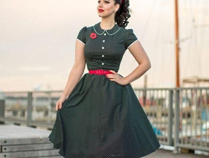 64586902be8 Chic robe vintage année 50 robe guinguette idée