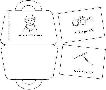Free Doctor Kit Emergent Reader Community Helpers Preschool