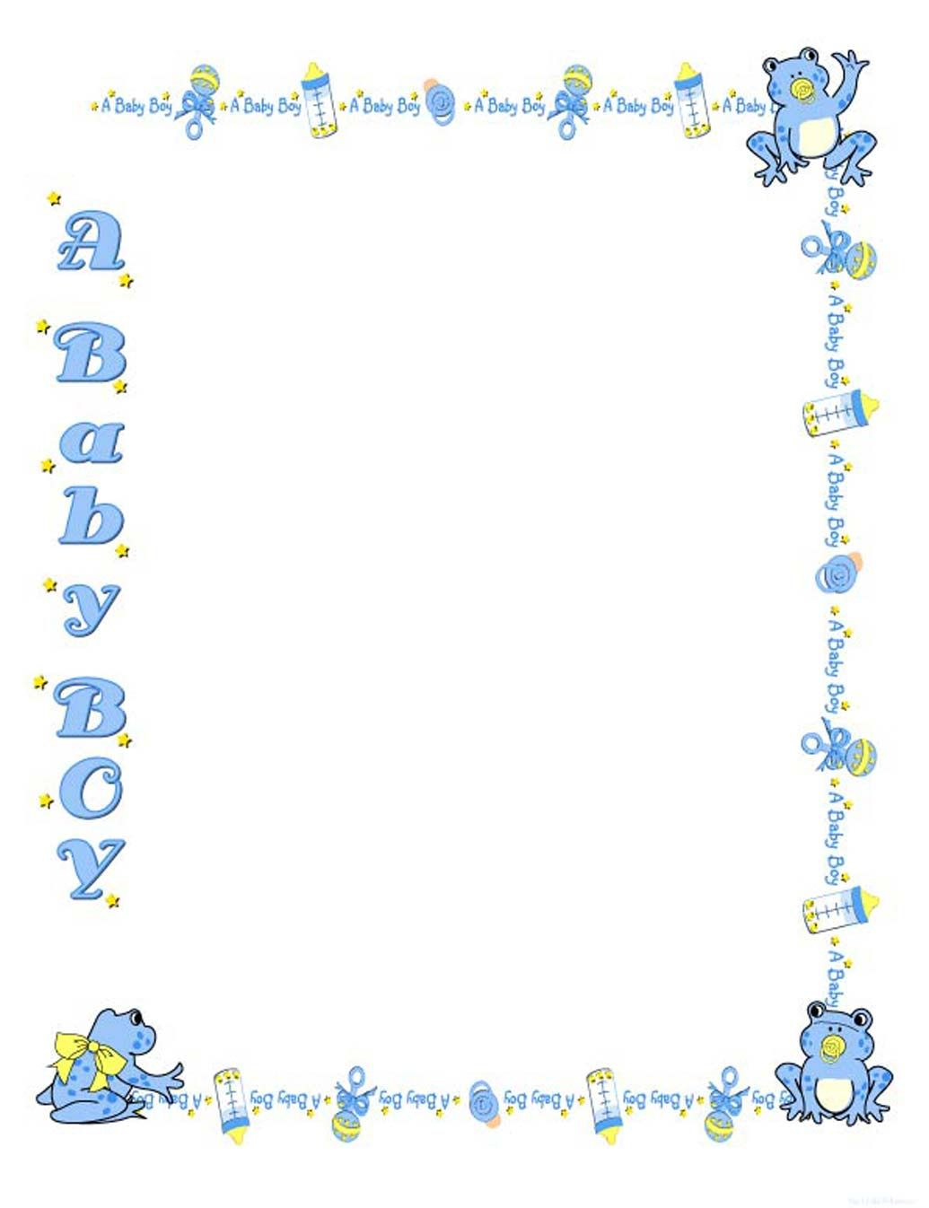 free baby shower border templates - cliparts.co | baby shower