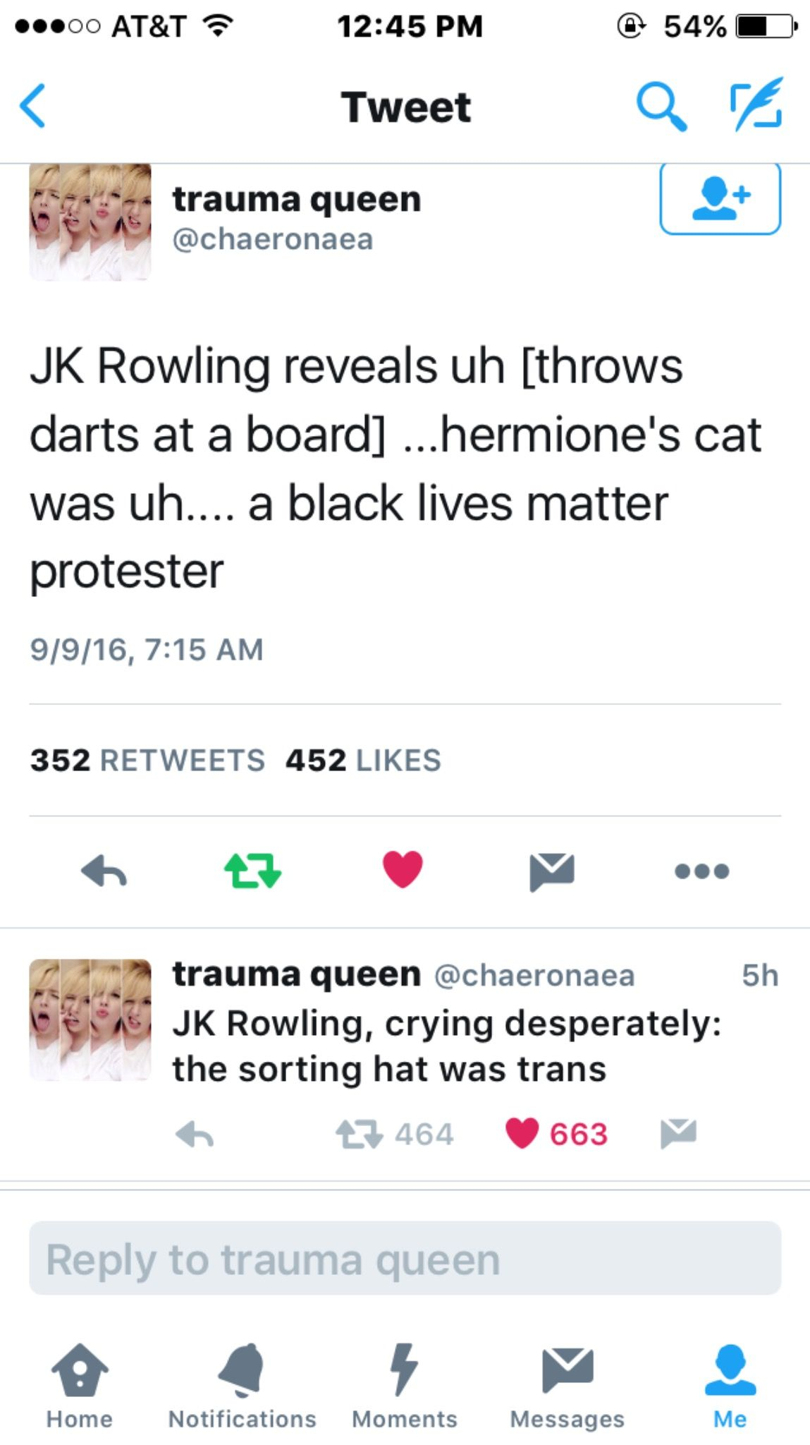 i love you joanne but saying that someone was gay the whole time this is why i m glad she finished hp before she became all preachy jk rowling
