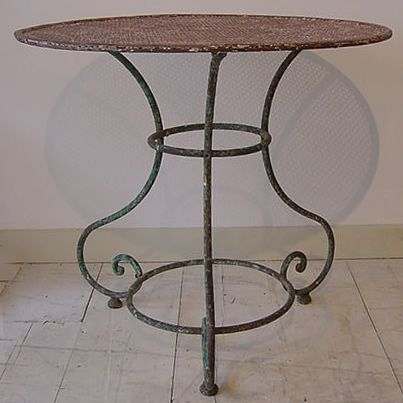 19th century Metal French Garden Table. 19th century Metal French Garden Table   GARDEN FURNITURE