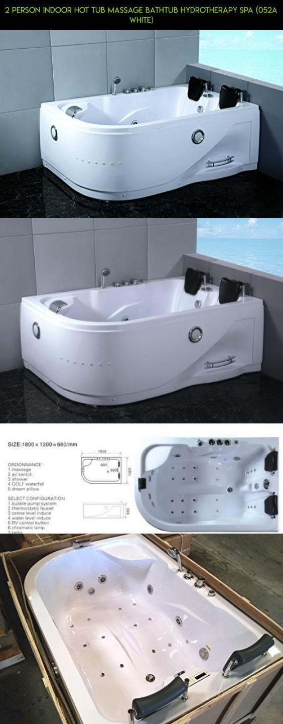 2 Person Indoor Hot Tub Massage Bathtub Hydrotherapy SPA (052A White ...