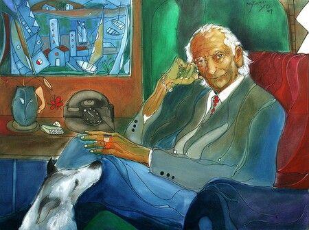"""""""Autorretrato"""" Jose Maria Mijares y Fernandez 1999"""