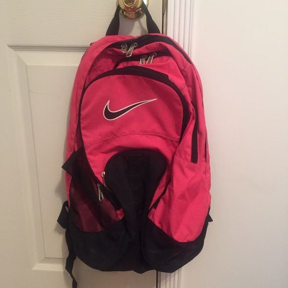Pink Nike Backpack Super cute backpack in hot pink! Has 3