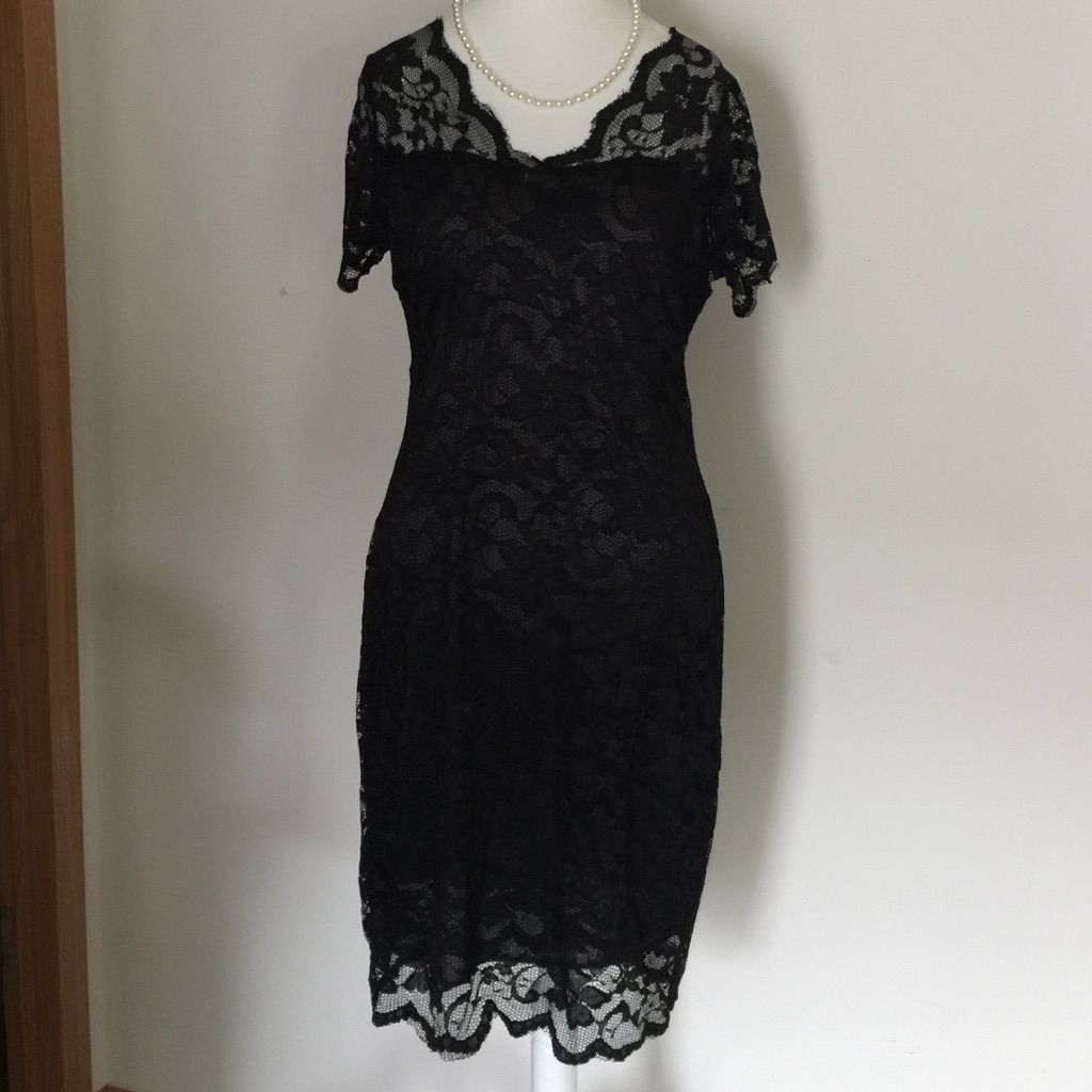 Jade & Juliet: Black Lace Dress That Stretches!