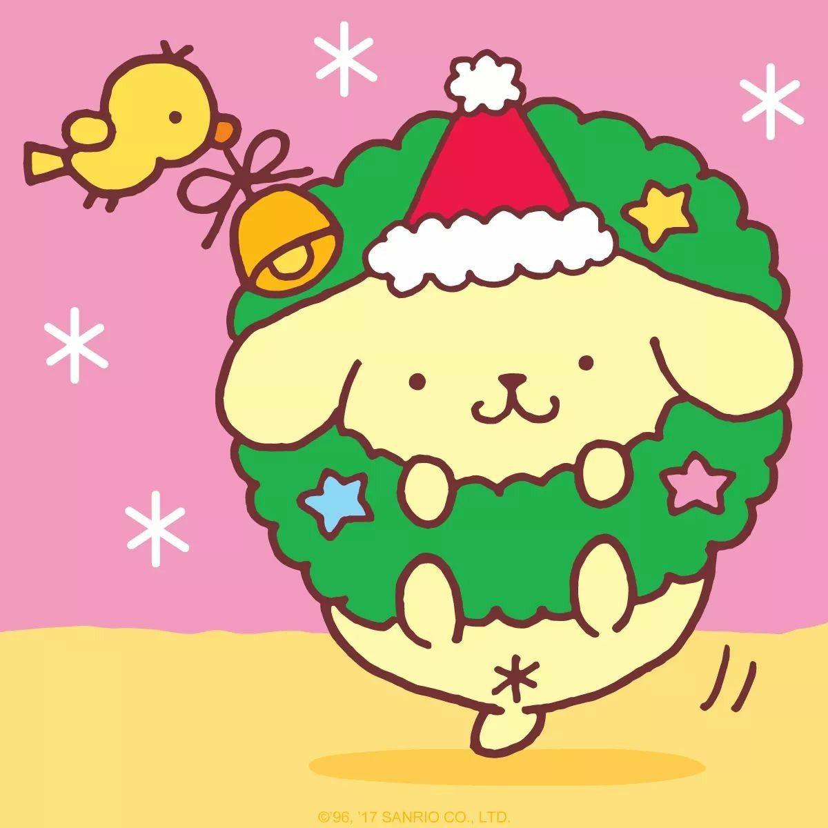 Happy Holidays! Sanrio wallpaper, Kawaii christmas, Cute