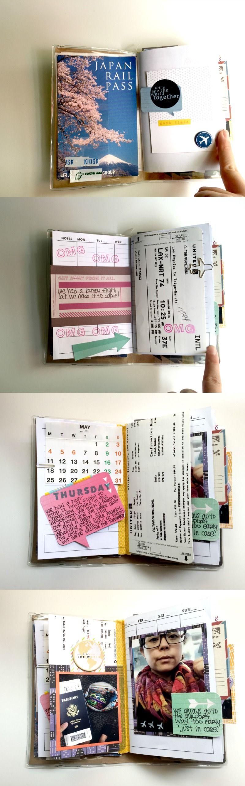 Scrapbook ideas about yourself - Japan Vacation Mini Scrapbook Album Part 1