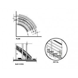 Curved Staircase AutoCAD dwg | Autocad drawing | Cad blocks free