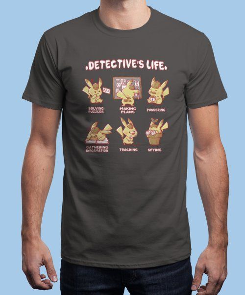 """Detective's Life"" is today's £9/€11/$12 tee for 24 hours only on Pin this for… 