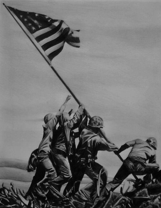 Iwo Jima Flagraising by Y-LIME.deviantart.com on @deviantART