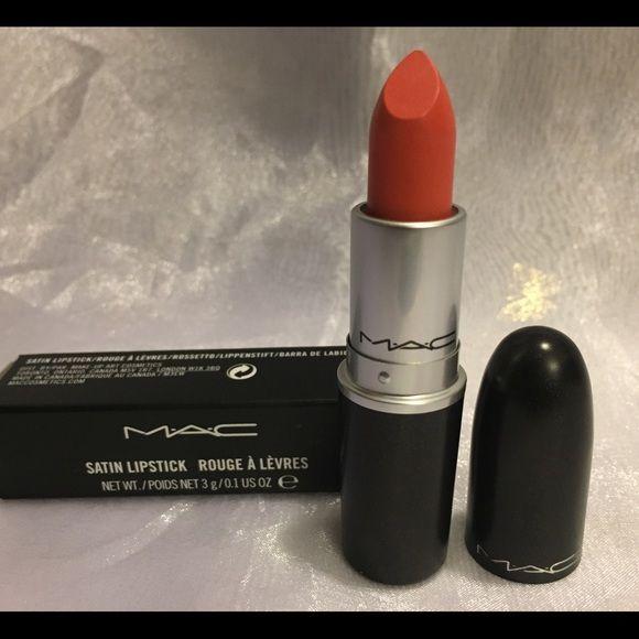 """SUSHI KISS"" MAC Cosmetics Lipstick Authentic Mac Lipstick Shade- SUSHI KISS (Satin) - Midtonal coral cream MAC Cosmetics Makeup Lipstick"
