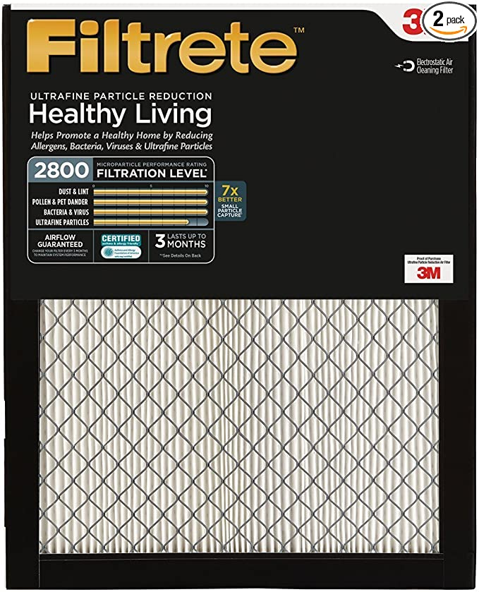 Filtrete MPR 2800 20x25x1 AC Furnace Air Filter, Healthy