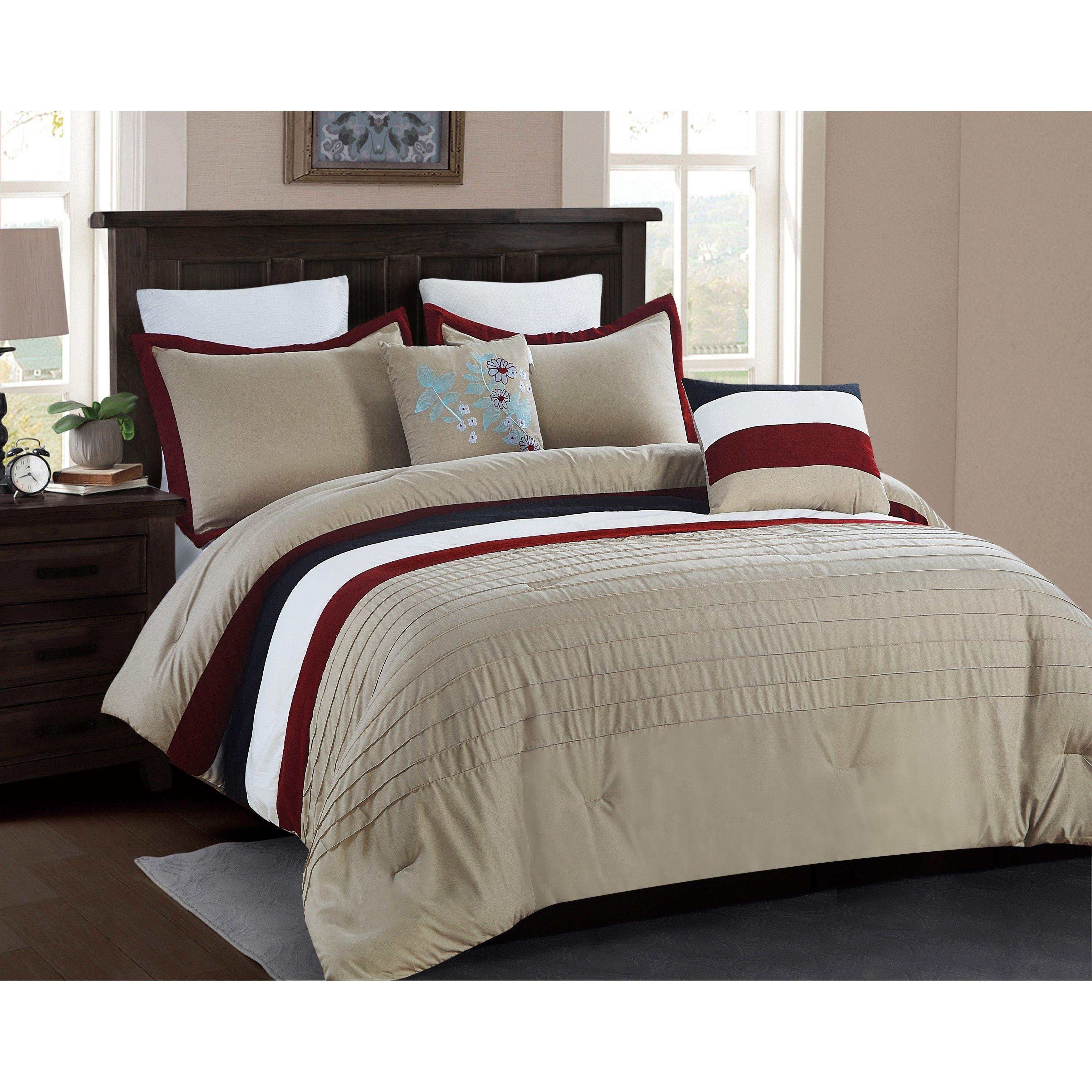 5 Piece Micro Suede Comforter Set Full Queen Chocolate Brown