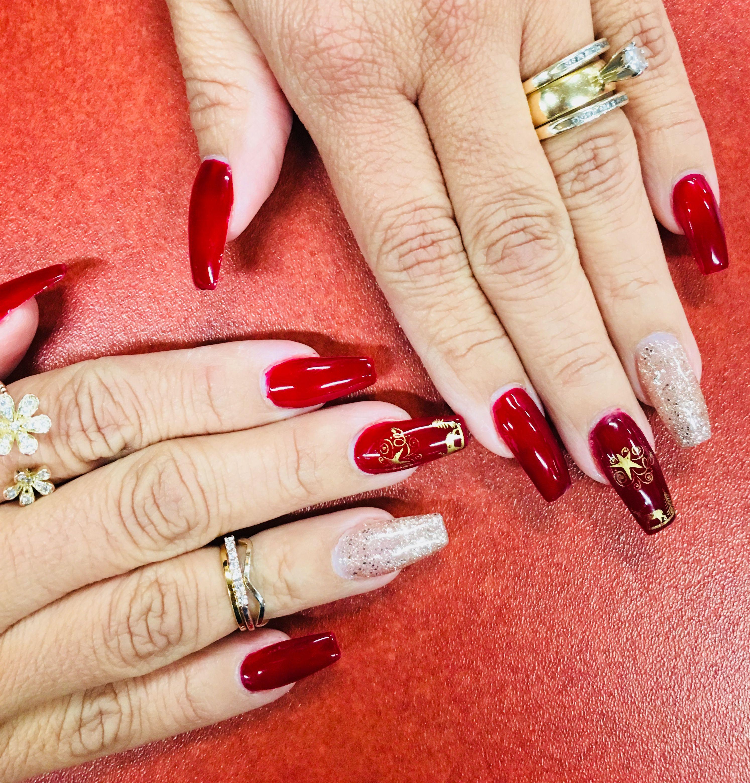 Nails by Karina, exotic nails 😍 🎄🌟🦌❤ | NAILS | Pinterest ...