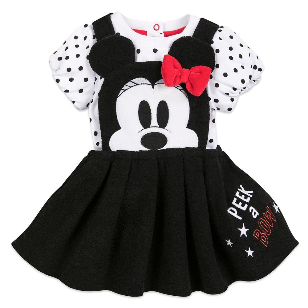 Toddler Kids Girls Cartoon Minnie Mouse Princess Party Dress Sleeveless Top Sets