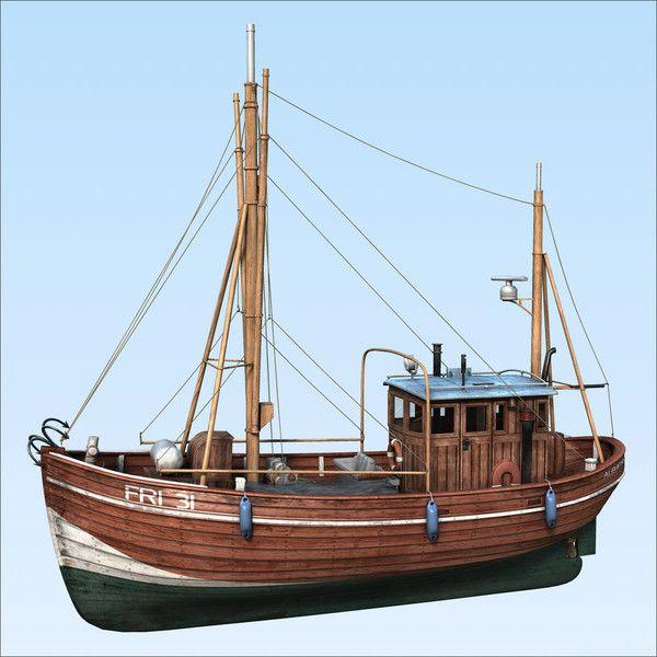 3d fishing boat model fishing boat by henningb post for Model fishing boats