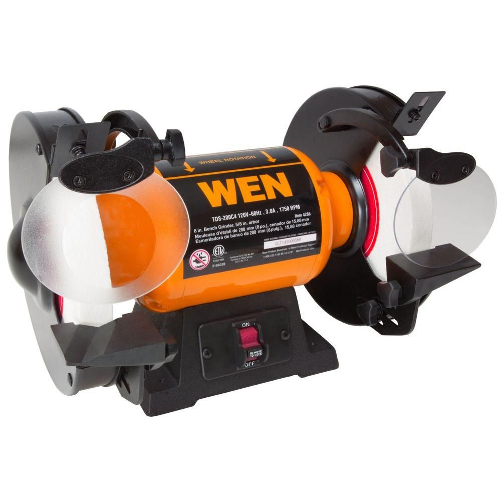 Wen 120 Volt 8 In Slow Speed Bench Grinder Bench