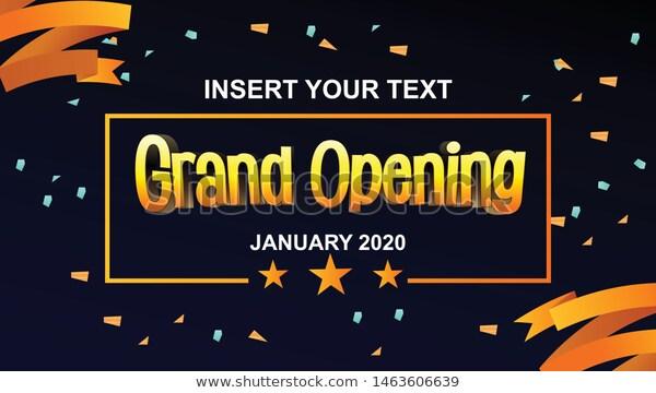 Grand Opening Banner Editable Vector Banner Stock Vector Royalty Free 1463606639 Grand Opening Banner Grand Opening Banner